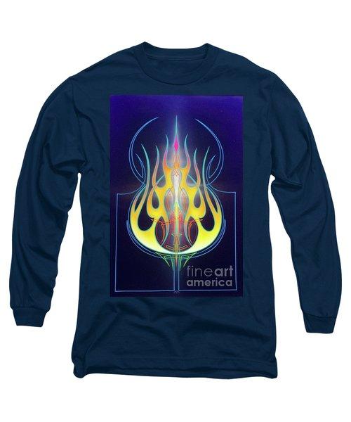 Flaming Bass Note Long Sleeve T-Shirt