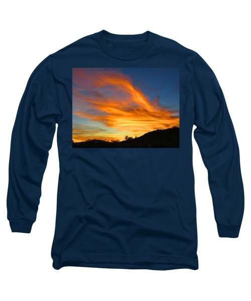 Flaming Hand Sunset Long Sleeve T-Shirt