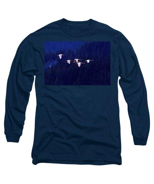 Flight Of The Swans Long Sleeve T-Shirt
