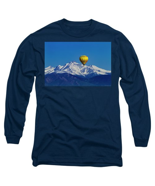 Floating Above The Mountains Long Sleeve T-Shirt by Teri Virbickis