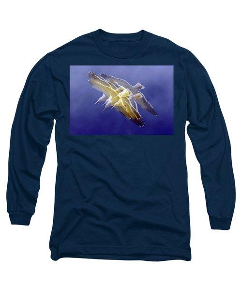 Floating Gulls Long Sleeve T-Shirt