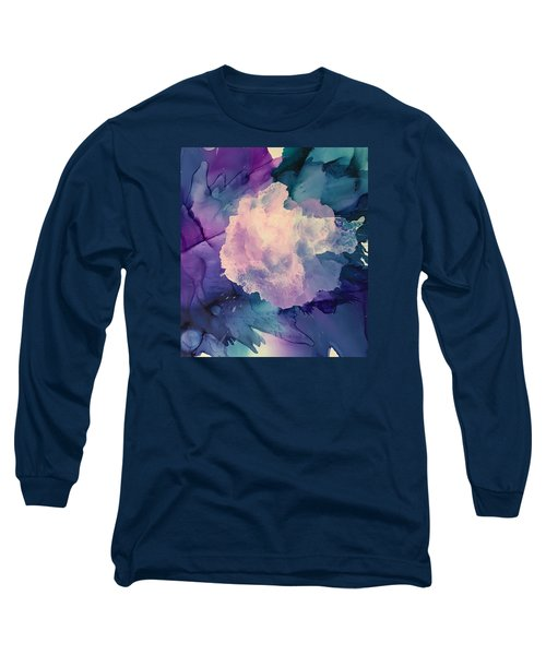 Floral Abstract Long Sleeve T-Shirt by Suzanne Canner