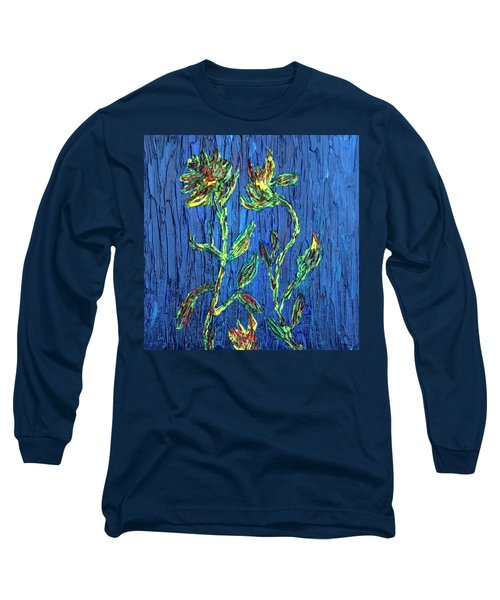 Long Sleeve T-Shirt featuring the painting Flower Dance by Vadim Levin