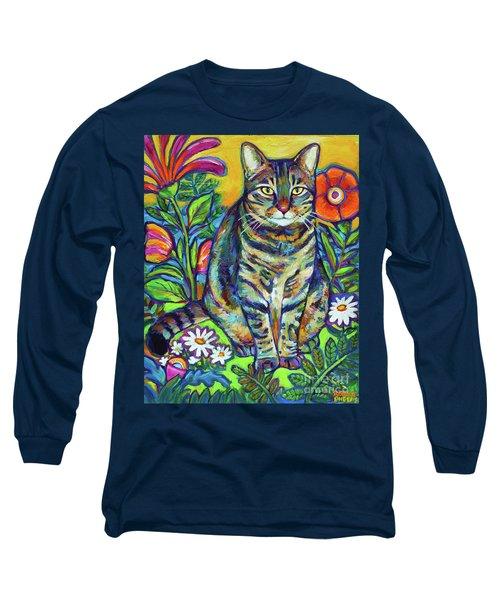 Flower Kitty Long Sleeve T-Shirt by Robert Phelps