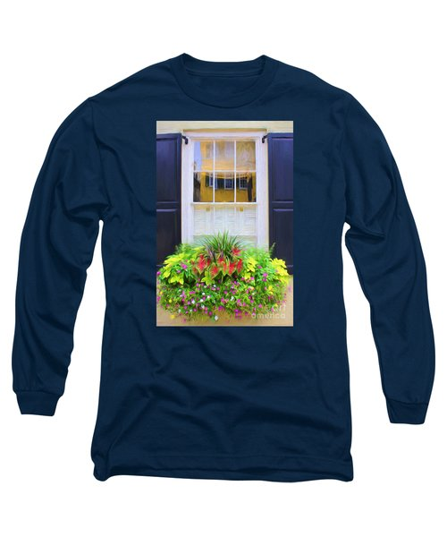 Flowers And Reflections Long Sleeve T-Shirt