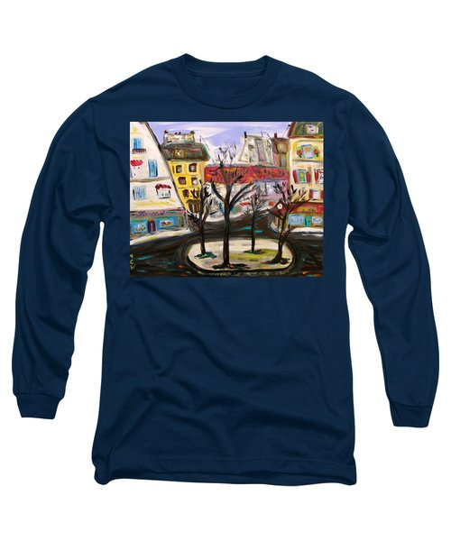 Long Sleeve T-Shirt featuring the painting Flowers At The Corner by Mary Carol Williams