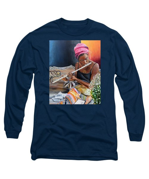 Flute Player Long Sleeve T-Shirt