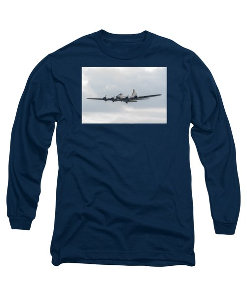 Flying Fortress Sally B Long Sleeve T-Shirt by Gary Eason