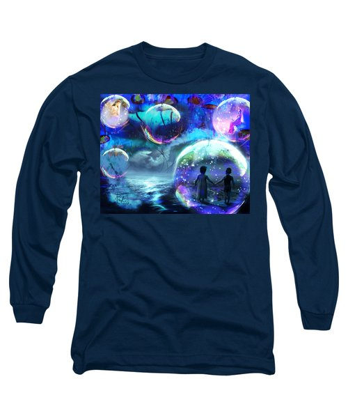 Flying Jellyfish And Magic Orbs Long Sleeve T-Shirt