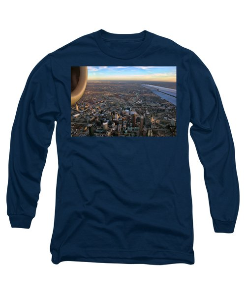 Flying Over Cincinnati Long Sleeve T-Shirt