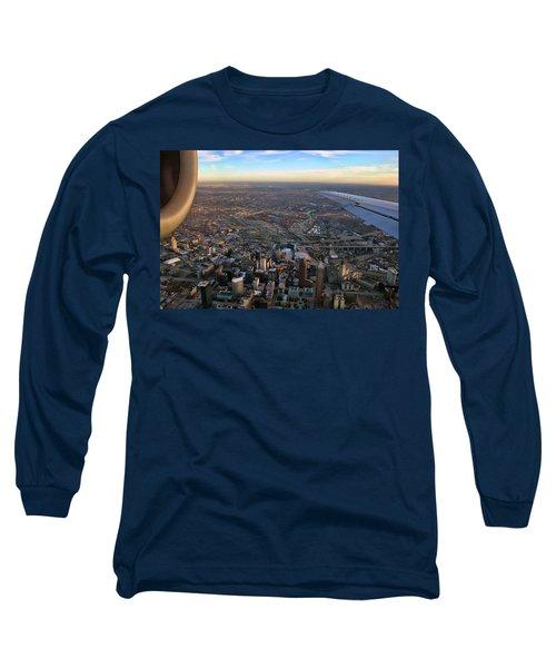 Flying Over Cincinnati Long Sleeve T-Shirt