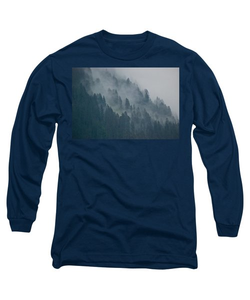 Foggy Mountain Ridge Long Sleeve T-Shirt by Eric Tressler