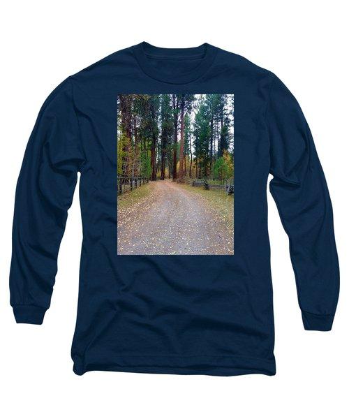 Follow The Road Less Traveled Long Sleeve T-Shirt by Jennifer Lake