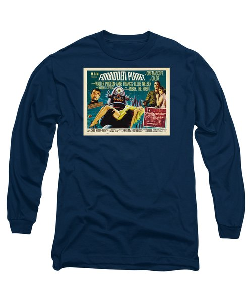 Forbidden Planet In Cinemascope Retro Classic Movie Poster Long Sleeve T-Shirt