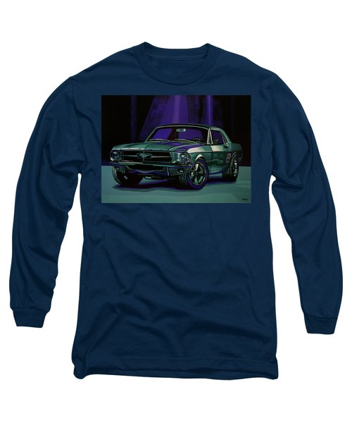 Ford Mustang 1967 Painting Long Sleeve T-Shirt