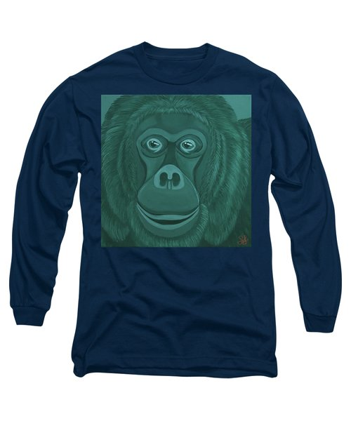 Forest Green Orangutan Long Sleeve T-Shirt