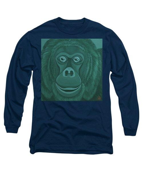 Forest Green Orangutan Long Sleeve T-Shirt