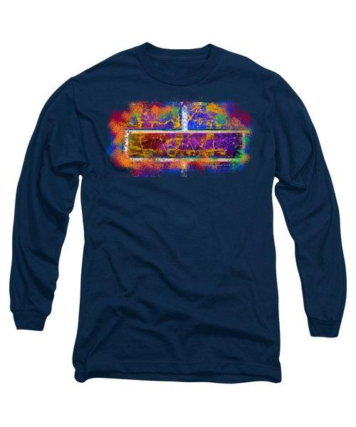 Forgive Brick Blue Tshirt Long Sleeve T-Shirt by Tamara Kulish