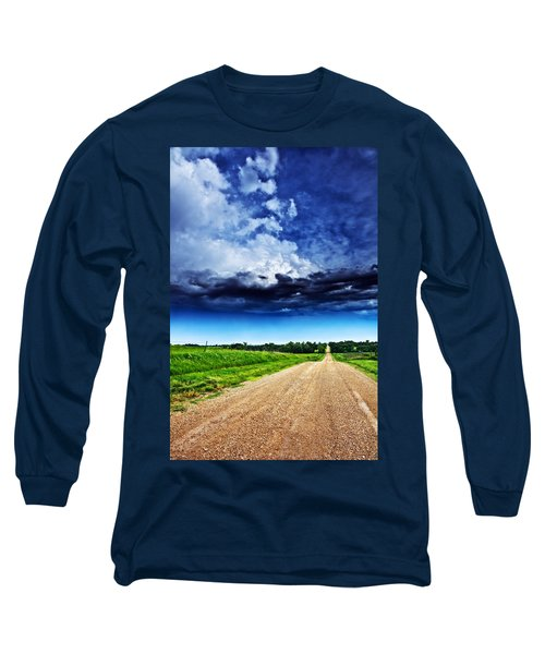 Forming Clouds Over Gravel Long Sleeve T-Shirt
