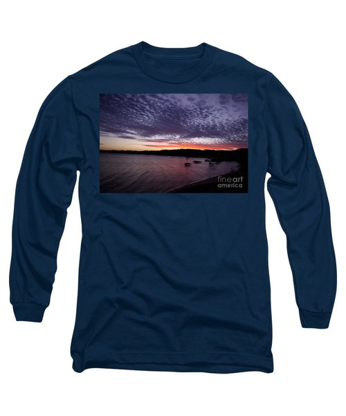 Long Sleeve T-Shirt featuring the photograph Four Elements Sunset Sequence 7 Coconuts Qld  by Kerryn Madsen - Pietsch