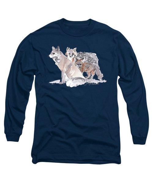 Fox Family Of Three Long Sleeve T-Shirt