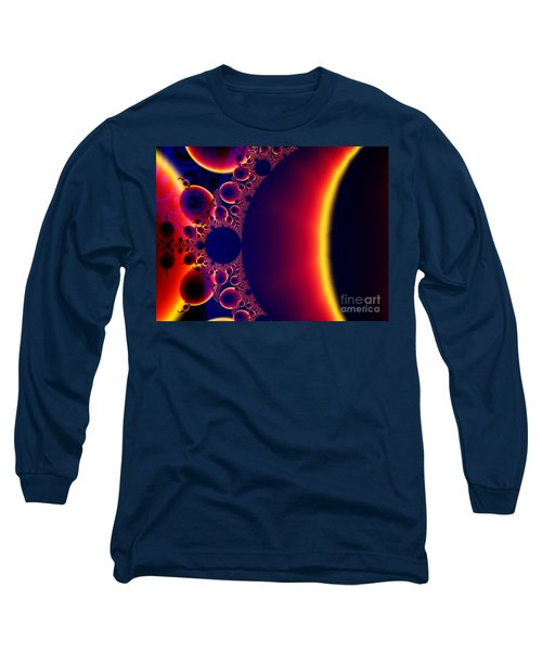 Fractal Galaxy Sunset  Long Sleeve T-Shirt