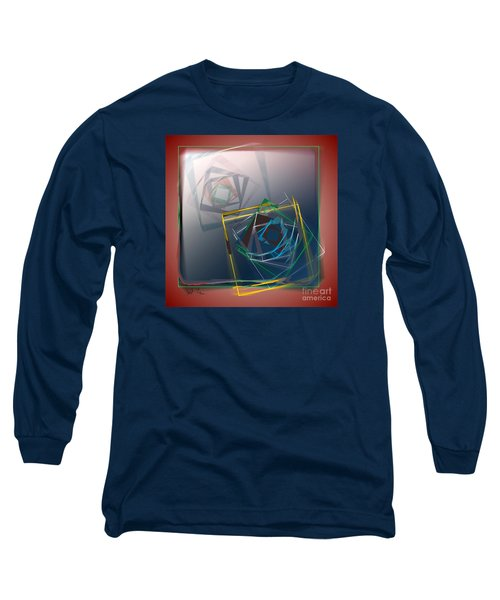 Long Sleeve T-Shirt featuring the digital art Fragments Of Movement by Leo Symon