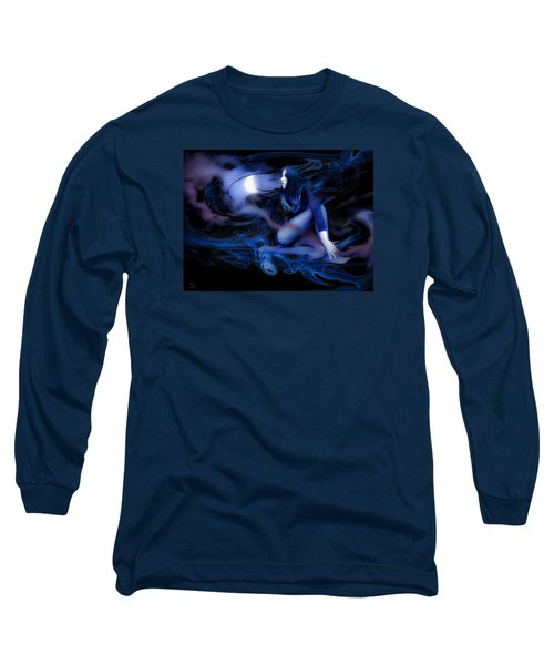 Fran's Ecliptic Moon Long Sleeve T-Shirt by Glenn Feron
