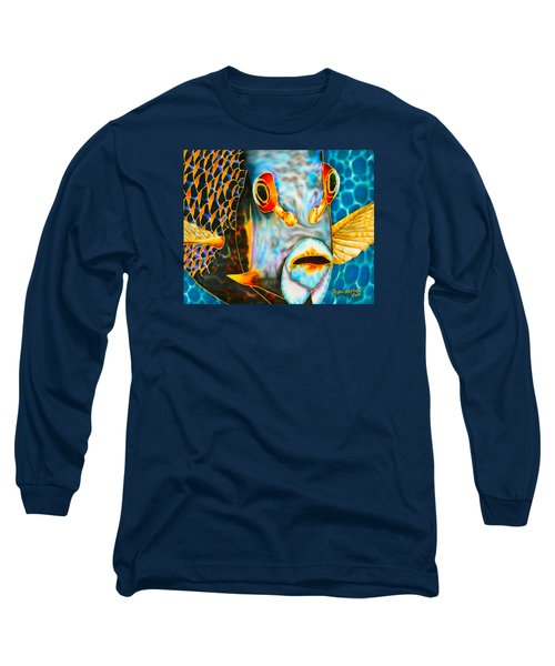 French Angelfish Face Long Sleeve T-Shirt