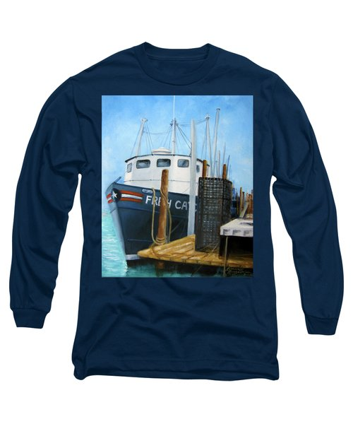 Fresh Catch Fishing Boat Long Sleeve T-Shirt