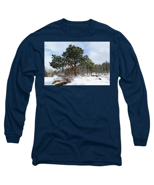 Fresh Mountain Snow Long Sleeve T-Shirt