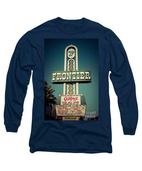 Frontier Hotel Sign, Las Vegas Long Sleeve T-Shirt