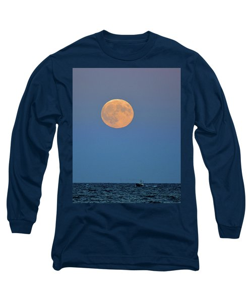 Full Blood Moon Long Sleeve T-Shirt by Nancy Landry