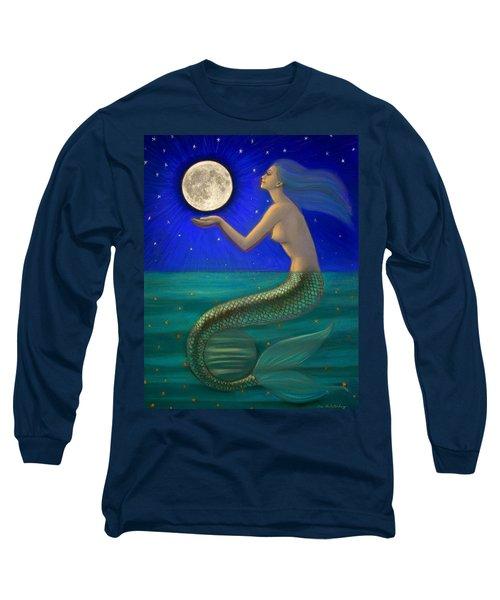 Full Moon Mermaid Long Sleeve T-Shirt