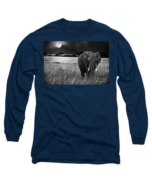 Full Moon Night Long Sleeve T-Shirt
