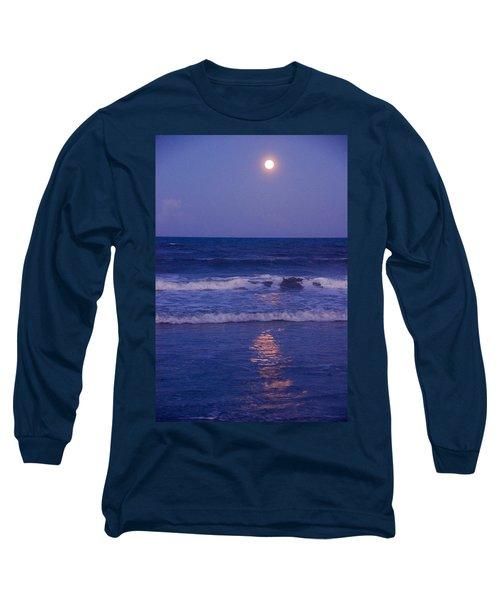 Full Moon Over The Ocean Long Sleeve T-Shirt