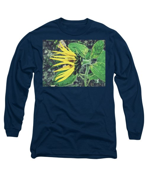 Long Sleeve T-Shirt featuring the photograph Funny Sunflower by Karen Stahlros