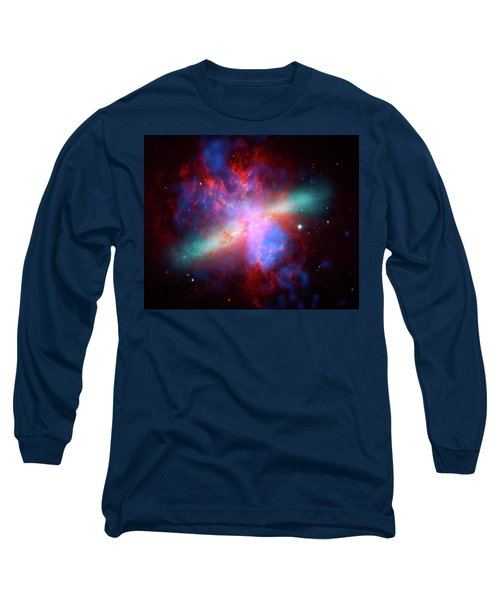 Long Sleeve T-Shirt featuring the photograph Galaxy M82 by Marco Oliveira