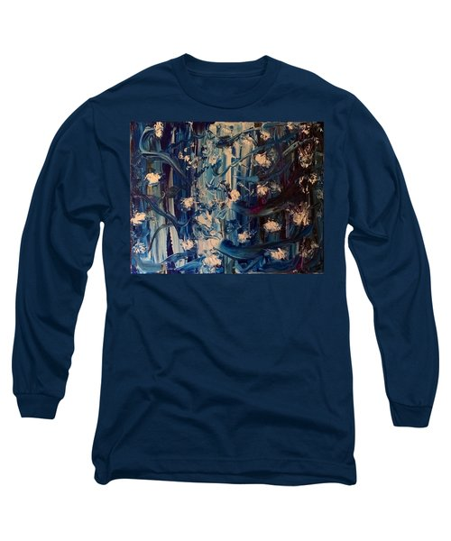 Long Sleeve T-Shirt featuring the painting The Garden Story by Kicking Bear Productions