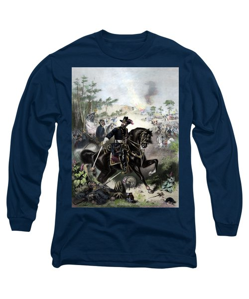 General Grant During Battle Long Sleeve T-Shirt