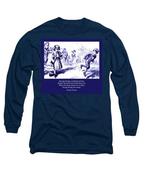 Georgy Porgy Mother Goose Illustrated Nursery Rhyme Long Sleeve T-Shirt