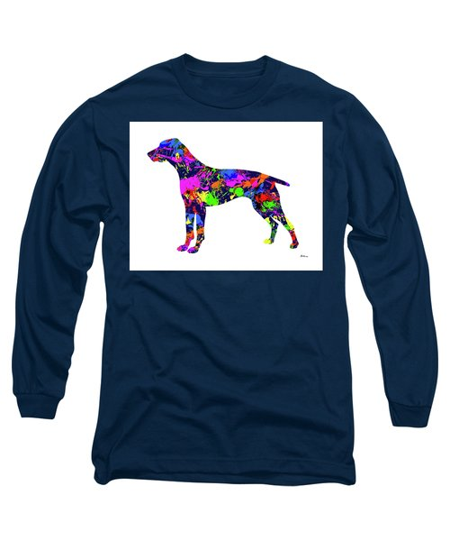 German Shorthaired Pointer Paint Splatter Long Sleeve T-Shirt