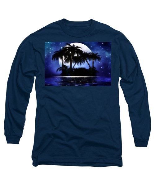 Shadow Island Long Sleeve T-Shirt by Gabriella Weninger - David