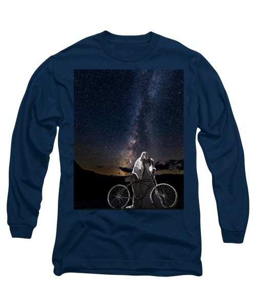 Ghost Rider Under The Milky Way. Long Sleeve T-Shirt