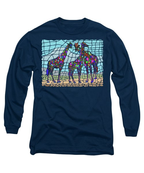 Giraffe Maze Long Sleeve T-Shirt