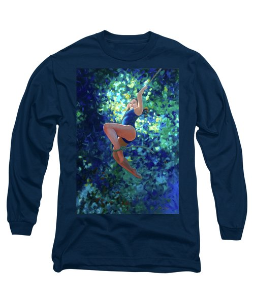 Girl On A Rope Long Sleeve T-Shirt