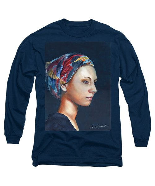 Girl With Headscarf Long Sleeve T-Shirt