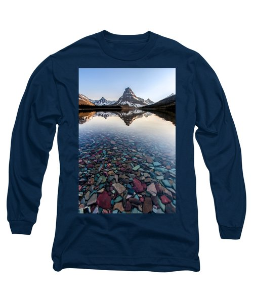 Long Sleeve T-Shirt featuring the photograph Glacier Skittles by Aaron Aldrich