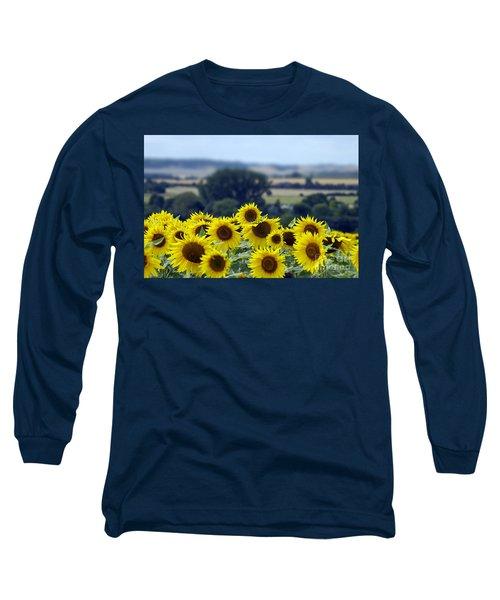 Glorious Sunflowers Long Sleeve T-Shirt