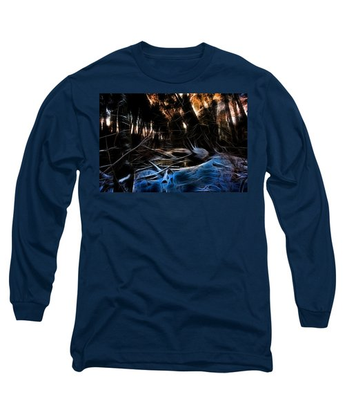Glow River Long Sleeve T-Shirt by Michaela Preston